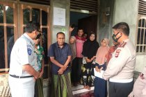 Polda Aceh salurkan bantuan bagi korban kecelakaan lalu lintas