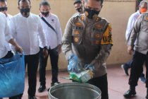 Polres Labuhanbatu musnahkan 15 kg sabu-sabu bukti hasil tangkapan