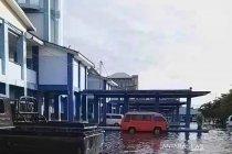 Terminal KM-6 Banjarmasin jadi tempat pengungsi korban banjir