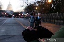 Pelantikan Joe Biden dan Harris diwarnai sepinya jalanan di Washington