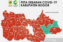 Dua wilayah zona hijau setelah hampir sepekan Kabupaten Bogor memerah