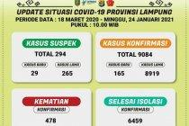 Dinkes catat positif COVID-19 Lampung capai 9.084 kasus