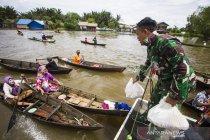 TNI distribusikan bantuan korban banjir Kabupaten Banjar
