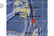 Gempa 7.1 M Guncang Timur Laut Sulawesi Utara