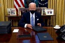 Pengarahan pertama Gedung Putih dalam pemerintahan Biden