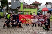 Pedagang keliling jadi duta kampanye tertib bermasker di Cianjur