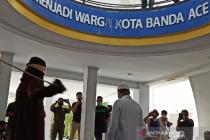 Oknum PNS Aceh dicambuk 18 kali karena berbuat mesum