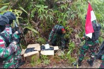 Satgas Pamtas gagalkan penyelundupan 42,9 kilogram sabu asal Malaysia