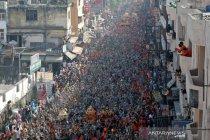 Perayaan Kumbh Mela di Haridwar India