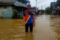 Banjir rendam permukiman warga perbatasan RI-Malaysia saat Idul Fitri