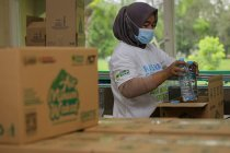 ACT produksi air minum untuk dibagikan gratis