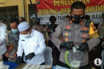 Polres Banjar musnahkan sabu-sabu senilai Rp4 miliar