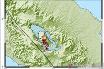Samosir diguncang 63 gempa dangkal sejak Januari 2021