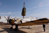 Melihat teknik penaburan benih dari udara di Xinjiang