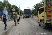 Puluhan pengemudi diperintahkan balik arah di perbatasan Aceh-Sumut