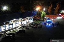 Arus lalu-lintas malam lebaran di Banda Aceh padat