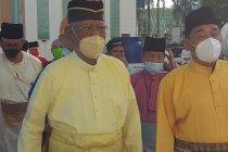 Pemangku Sultan Deli Shalat Id Masjid Raya Al-Mashun Medan