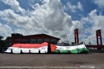 Bendera Palestina-RI raksasa dikibarkan ACT di Benteng Kuto Besak