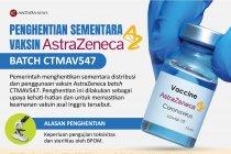Penghentian sementara vaksin Astrazeneca