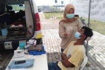 Ratusan pemudik digiring lakukan tes antigen di perbatasan OKI