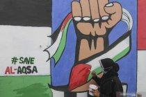Mural Solidaritas Indonesia untuk Palestina