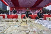 Pengungkapan kasus sabu 1.129 ton