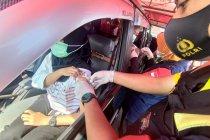 Warga antusias ikuti layanan vaksinasi tanpa turun di Tulungagung