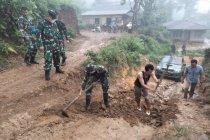TNI AD bangun 1.200 meter jalan Dusun Maju Jaya dalam program TMMD
