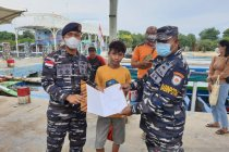 TNI AL menyelamatkan pelajar jatuh di perairan Kepulauan Seribu
