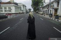 Penutupan jalan di Bandung