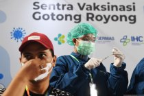 Penerima vaksin COVID-19 dosis pertama capai 23 juta orang