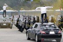 Latihan pengamanan jelang Olimpiade Tokyo