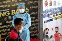 Peserta uji SIM dapat vaksin AstraZeneca gratis di Polresta Mataram