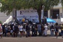 Menyaksikan perayaan festival Juneteenth di Dallas, AS