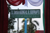 Nama mantan Jaksa Agung R Soeprapto diabadikan jadi nama jalan