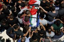 Pemakaman remaja Palestina yang terbunuh oleh pasukan Israel