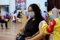 Polda Lampung menggelar lagi vaksinasi di GSG Unila