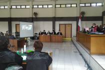 Empat terdakwa tipikor Masjid Raya Sriwijaya Palembang disidangkan