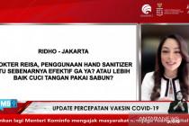 Reisa: Cuci tangan dengan sabun lebih baik untuk hilangkan kuman