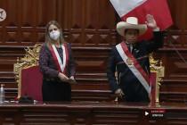 Pedro Castillo resmi dilantik sebagai presiden baru Peru