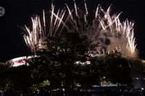 Semarak kembang api upacara pembukaan Olimpiade Tokyo