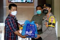 Polres Pandeglang salurkan 70 ton bantuan beras dari pemerintah pusat