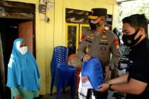 Polda Malut bersama insan pers bagikan bantuan sembako