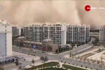 Badai pasir selimuti Gansu, China barat laut