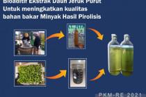 Mahasiswa UB kembangkan bahan bakar dari limbah plastik