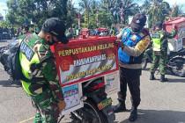 TNI/Polri di Biak luncurkan perpustakaan keliling untuk warga