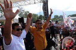 Prabowo  jenguk Wiranto di RSPAD
