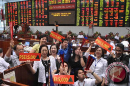 Bursa Filipina ditutup naik 60,55 poin