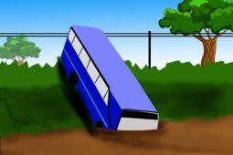 Bus terguling di Magetan, tiga orang tewas