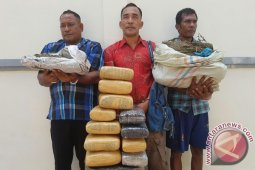 Polisi tangkap pengedar enam kilogram ganja